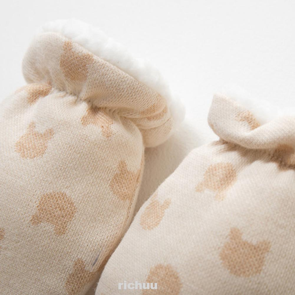 Organic Cotton Newborn Baby Anti Scratch Mittens Color Ivory