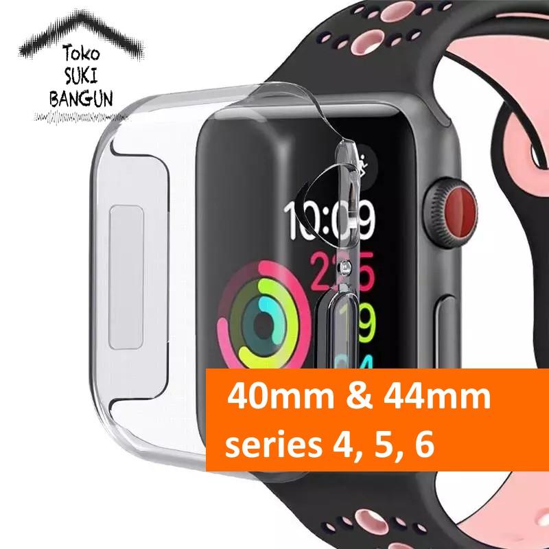 เคสซิลิโคนกันกระแทกสําหรับ Apple Watch Case Series 6 5 4 40mm 44mm