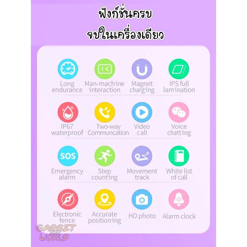 applewatch series 6♝✵นาฬิกาเด็ก GPS รุ่น A60 วีดีโอคอล Video Call รองรับสัญญาณ 4G WIFI รองรับภาษาไทย นาฬิกา นาฬิกาป้องกั