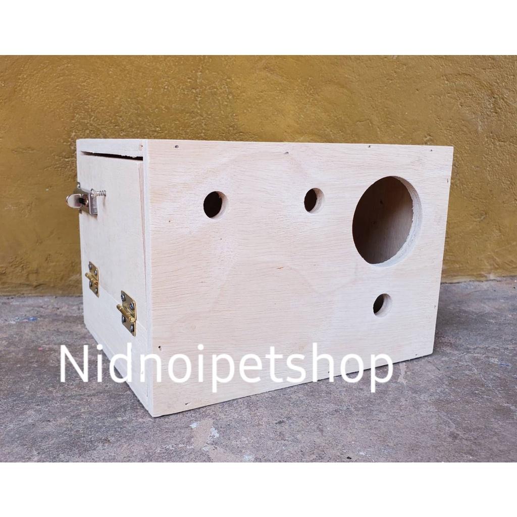 ✷✷กล่องเพาะนก(กล่องหงส์หยก )รังเพาะนก กล่องนอน บ้านนก หงส์หยก เลิฟเบิร์ด ค็อกคาเทล ฟอพัส ฟินซ์ ราคาโรงงานเลยจ้า