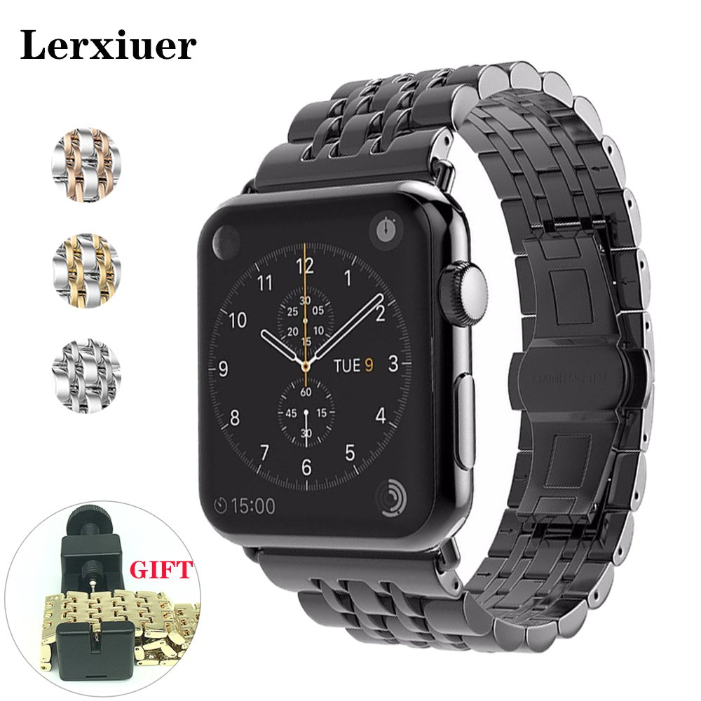 Strap For apple watch band 44mm 40mm iwatch band 42 mm 38mm Stainless Steel Bracelet accessories for iwatch series 6 5 4