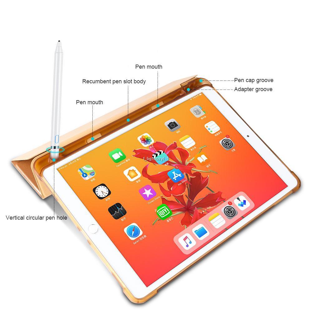 ◄โปร11.11 [iPad10.2Gen7/8มีที่เก็บปากกา] เคสiPad 10.2 Gen7 / Pro10.5 Air3 10.5 มีที่เก็บ Apple Pencil ใส่ปากกาได้ เคสนิ