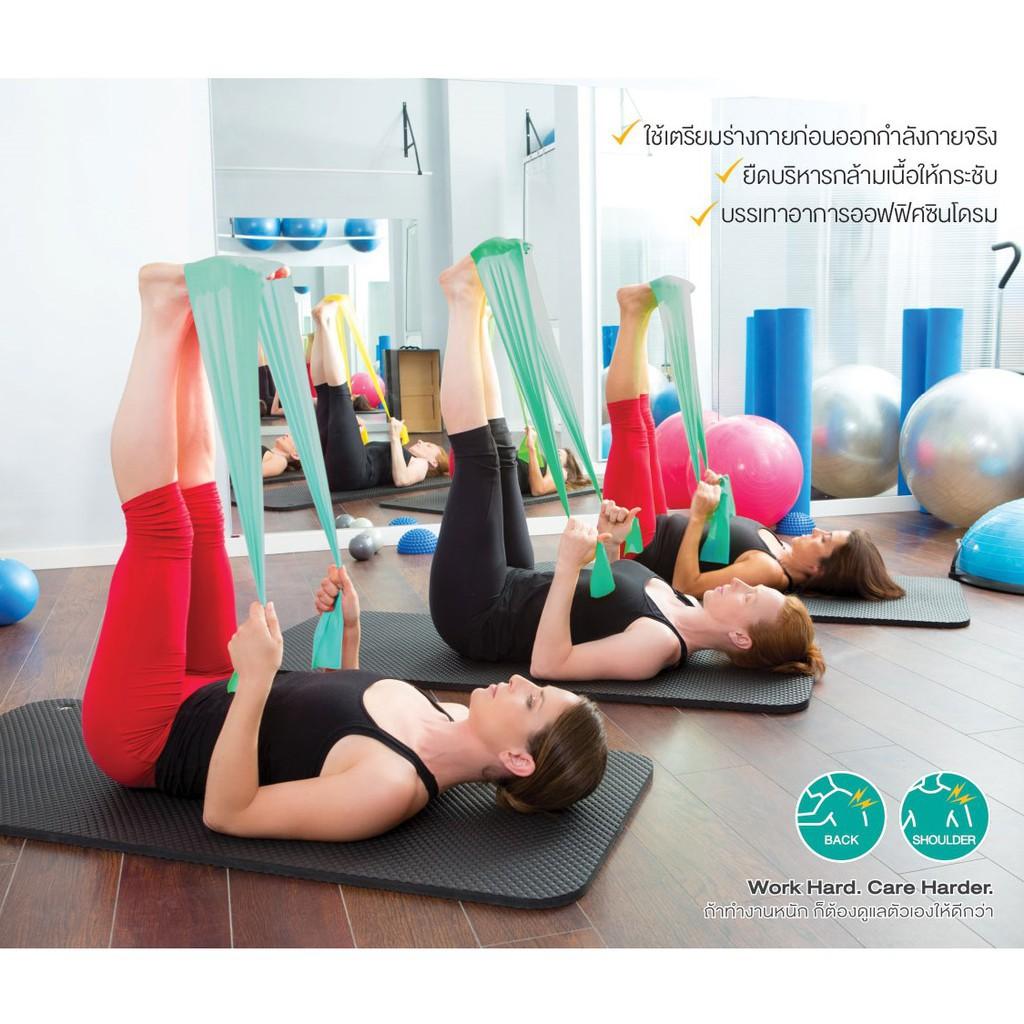 สินค้ายอดนิยม▥▨❂Bewell เซ็ตยางยืดออกกำลังกาย ยางยืดโยคะ + ยางยืดบริหารข้อมือ ป้องกันนิ้วล็อค ยางยืดพิลาทิส ลดอาการตึงคอ
