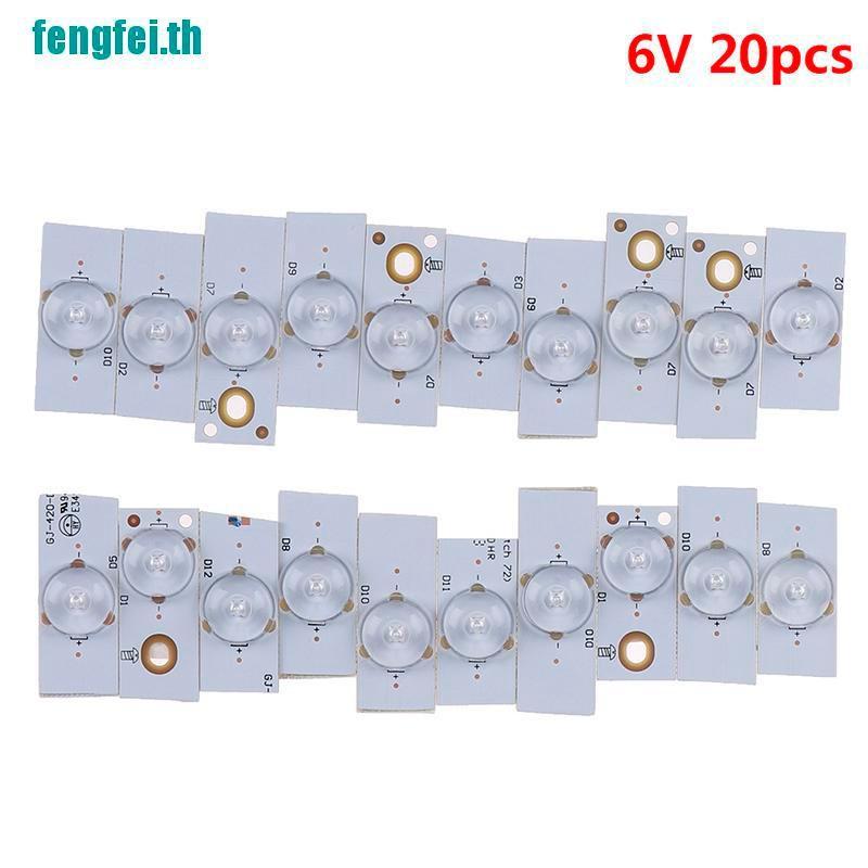 (fengfei) โคมไฟลูกปัด 20x6 v smd กับเลนส์ออปติคอลสําหรับ 32-65 นิ้ว led tv