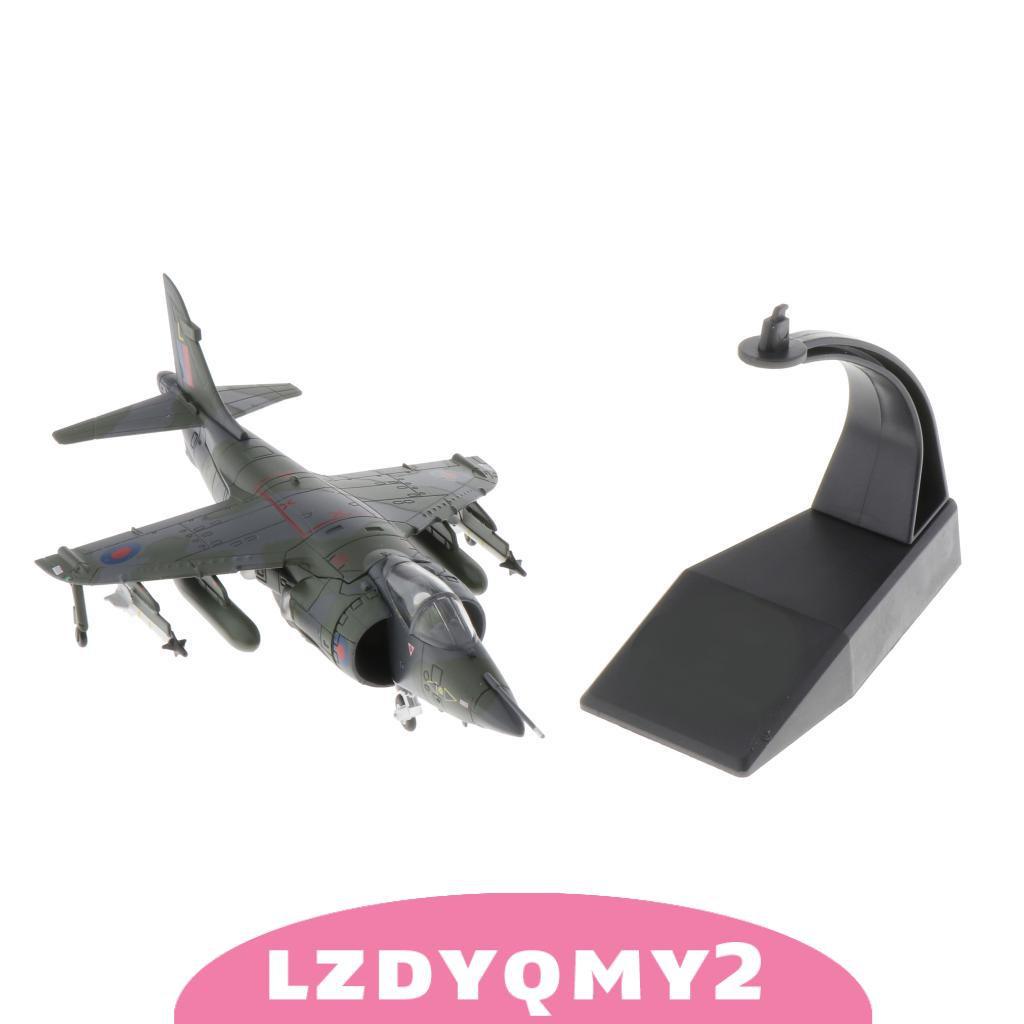 2Pcs 1//100 F-4 Fighter Plane /& 1:72 Harrier Jet Fighter Model Decoration