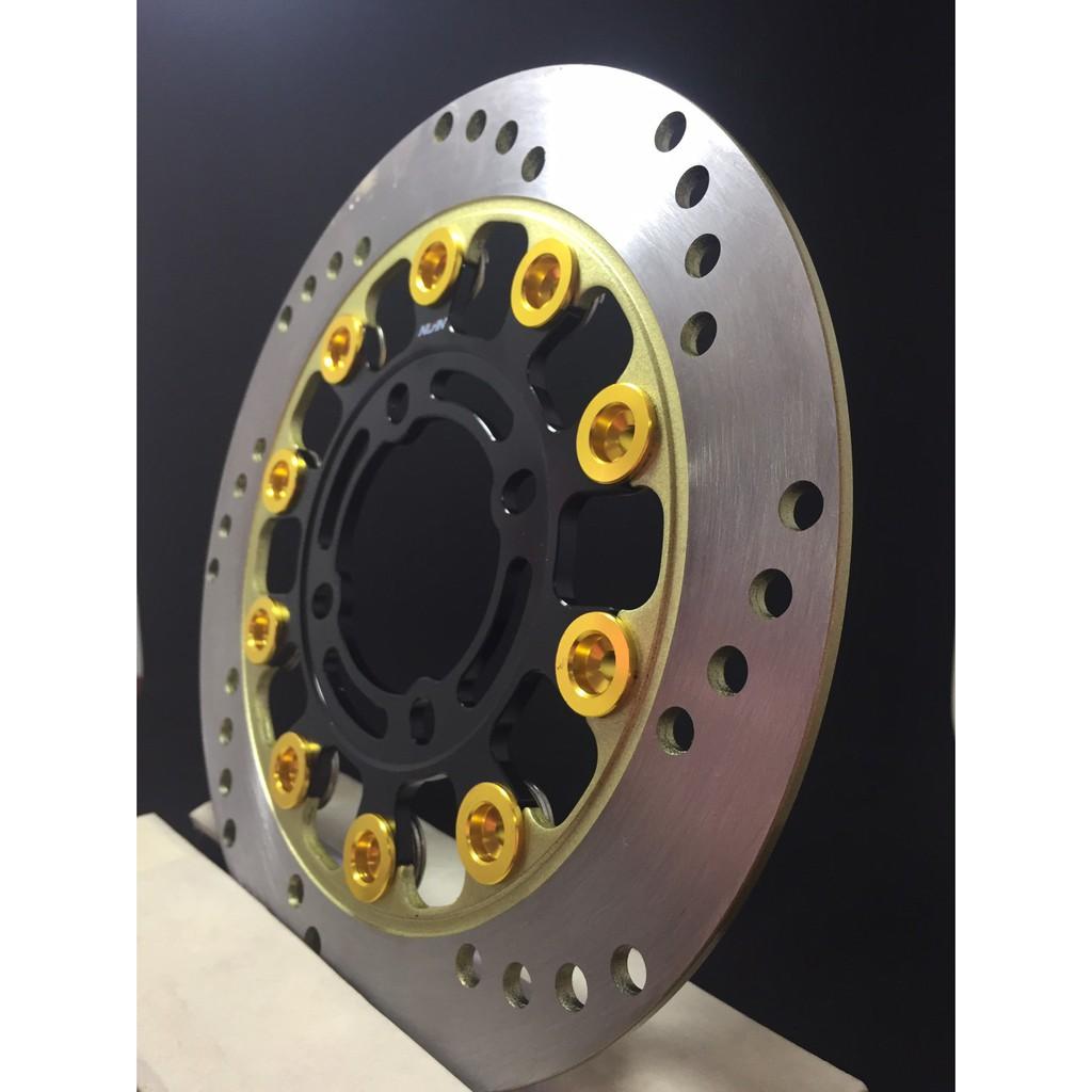 จานดิสเบรค ขนาด 220mm สำหรับ เวฟ110i,เวฟ125i(ปลาวาฬ),PCX,MSX,CZi,นูโว ทุกรุ่น,TTX,X1 ทุกรุ่น, สปาร์ค(รุ่นที่จานดิส4รู)