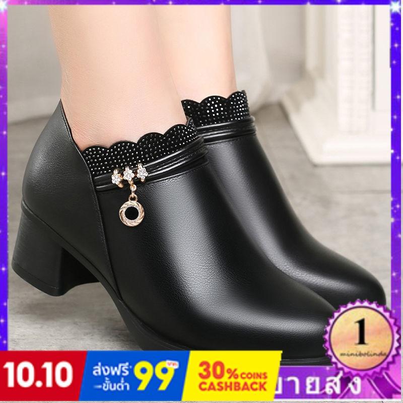 ⭐👠รองเท้าส้นสูง หัวแหลม ส้นเข็ม ใส่สบาย New Fshion รองเท้าคัชชูหัวแหลม  รองเท้าแฟชั่นรองเท้าผู้หญิงใหม่แม่รองเท้าเดียวหญ