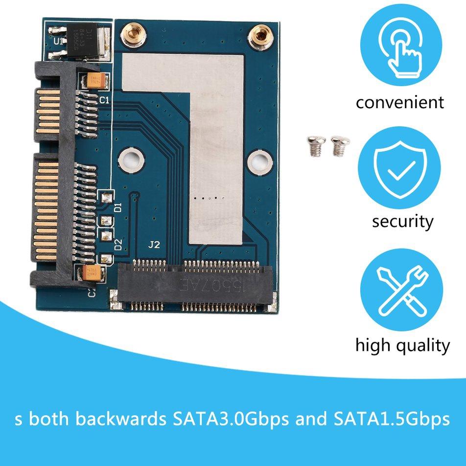 """Mini PCI-e MSATA To 2.5/"""" SATA Adapter Converter Card Module Blue Board"""