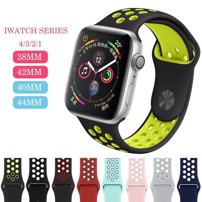 สายนาฬิกาข้อมือซิลิโคน 42 มม 38 มม 40 มม 44 มมสําหรับ apple watch band Series 6 SE 5 4 3 2 1