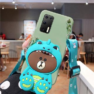 Huawei Y7A Y7P Y6P Y5P Y8P Y6S Y9S YMAX เคสโทรศัพท์ Y9 prime Y7 Pro 2018 2019 GR5 2017 P9 plus Honor play 10 Cartoon Din