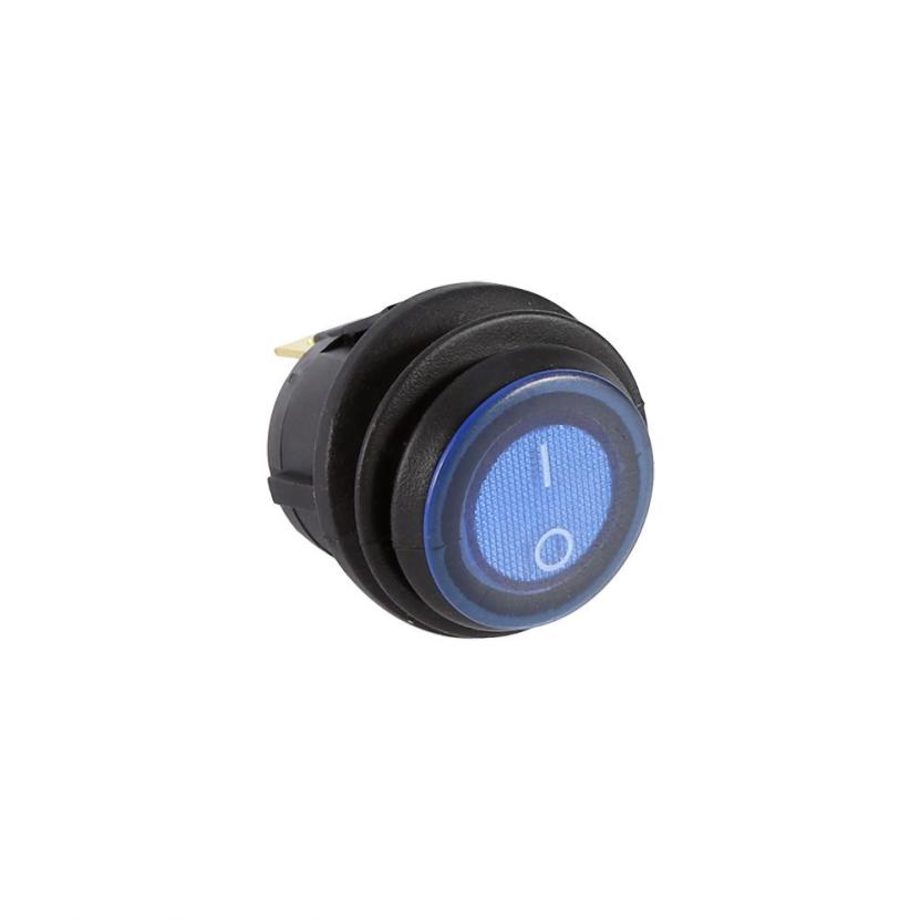 Akozon Toggle Switch 3pins 12V 30A Rocker SPST ON//OFF Blue LED Light Car Boat