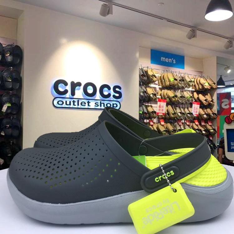 จำเป็นสำหรับฮิปสเตอร์! !! !! รองเท้าลำลอง Crocs ของแท้รองเท้าลำลอง