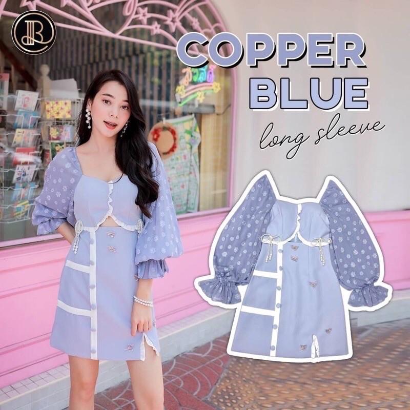 เดรส BLT Brand Copper Blue size M
