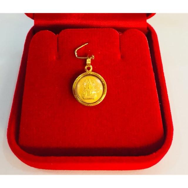 พระพุทธชินราชเลี่ยมทอง ทองแท้75% เลี่ยมกันน้ำ (องค์พระไม่ใช่ทองค่ะ) #ราคาสุดพิเศษเพียง589บาท