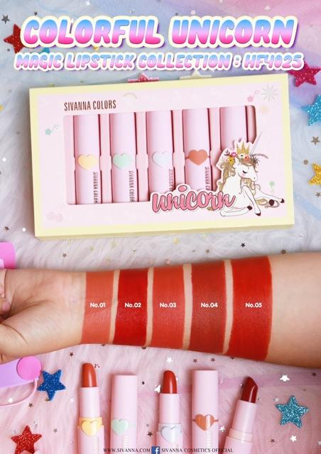 Magic hf4025 Sivanna Unicorn Collection Lipstick Colourful