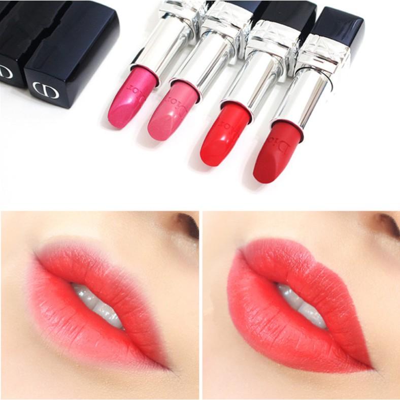 100% Original new Dior Vivid Blue Gold Lipstick Matte Moisturizing 999 080 888 520 3.5g