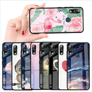 Review New Style Asus Zenfone Max Pro M2 ZB631KL ZB633KL / M1 ZB601KL ZB602KL Painted Cartoon Tempered glass Phone Case กรณี