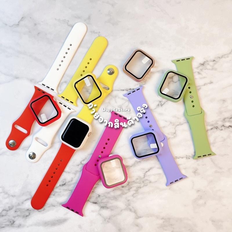 เคส Apple Watch สำหรับ IWatch series SE/6/5/4/3/2/1  Silicone Case Apple Watch 40&44mm