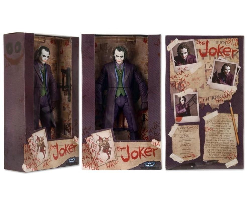 "7"" Male Mini Figure 18cm THE JOKER HEATH LEDGER Action Figure Model"