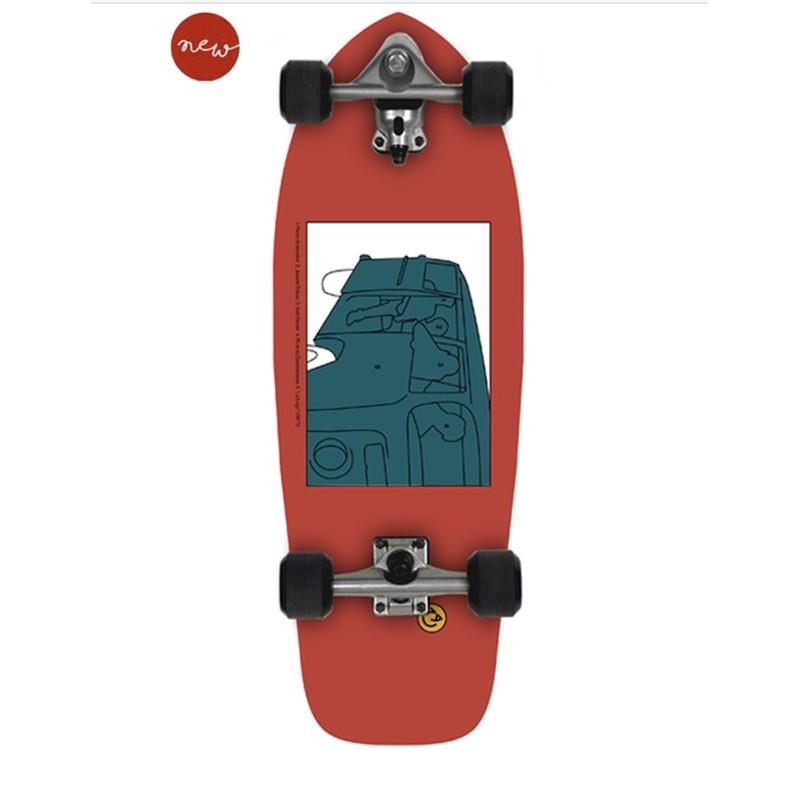 """พร้อมส่ง Surfskate slide  ใหม่ล่าสุด 2021 Slide SurfSkate Board - 30"""" Joyful SK Heritage"""
