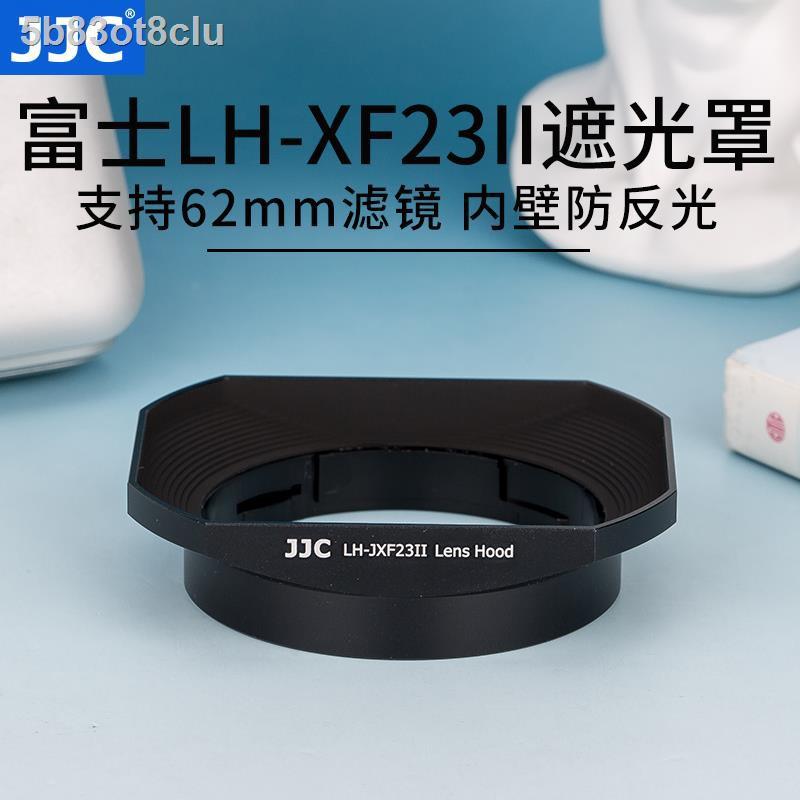 โล่ป้องกันแสง∈JJC ใช้ Fuji LH-XF23 เลนส์ฮูด XF 23 มม. f1.4 เลนส์ 56 F1.2 R / XF56mm กล้อง APD XT30 XT3 XT4 โลหะสี่เหลี