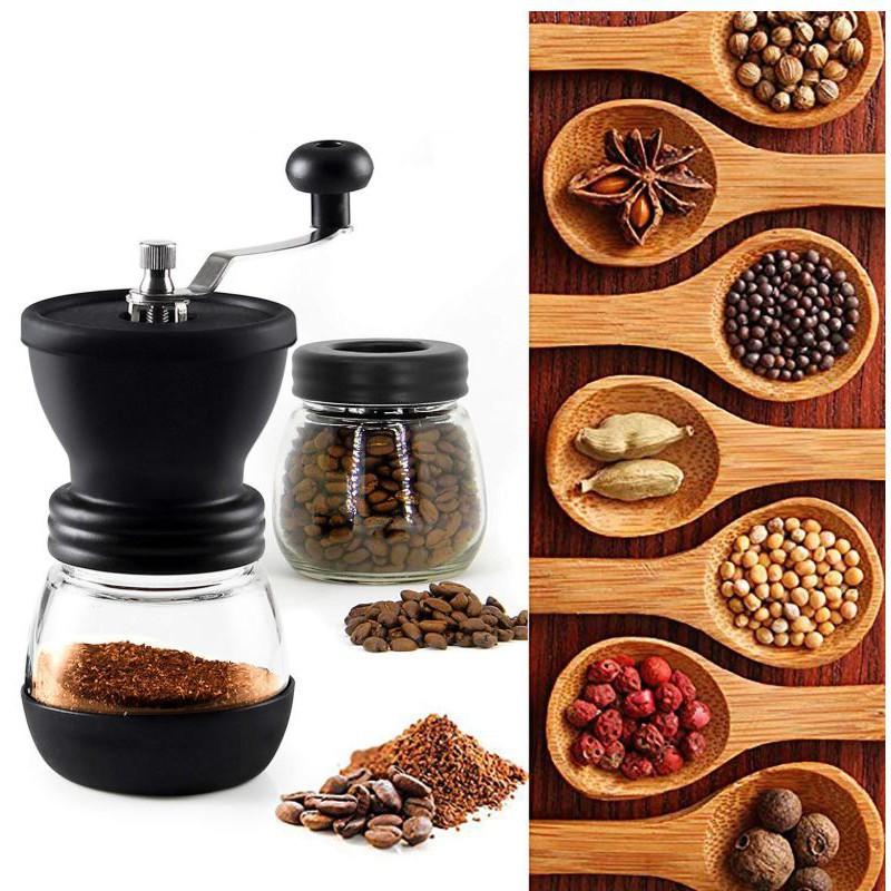 ✵✣❍กรุงเทพฯ จัดส่งสินค้าในวันเดียว เครื่องบดเมล็ดกาแฟ เครื่องบดเมล็ดกาแฟมือหมุน เครื่องบดกาแฟด้วยมือแบบพกพา เครื่องทำกา