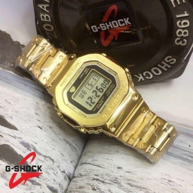 Casio G-SHOCK  นาฬิกาข้อมือผู้ชาย ผู้หญิง สายสแตนเลส Series 5000 รุ่น Full Metal GMW-B5000 มีชำระเงินปลายทาง