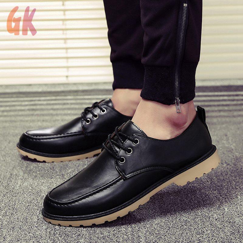 GKD✔ รองเท้า รองเท้าหนังแท้ loafer รองเท้าหนังแบบผูกเชือก รองเท้าหนังแฟชั่น รองเท้าคัชชู รองเท้าโลฟเฟอร์ ผู้ชาย 01
