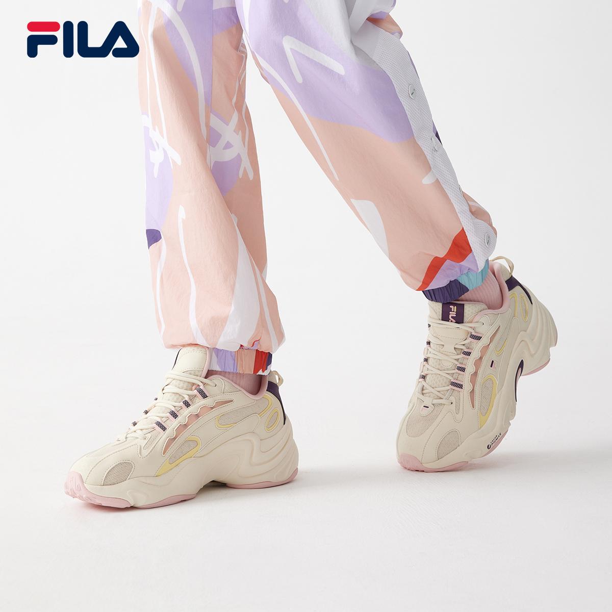 FILA FUSIONสตรีรองเท้าวิ่งย้อนยุค2021ฤดูใบไม้ผลิและฤดูร้อนใหม่เสือดาวรองเท้ากีฬารองเท้าเก่า