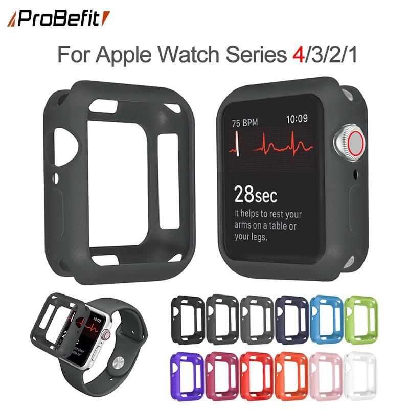 ซิลิโคนอ่อนสำหรับ Apple Watch 1/2/3/4/5/6 Iwatch 38 มม. 40 42 44 Iwatch Series Se 6/5/4/3/2/1 Apple Watch 5 Strap Apple Watch 42mm Case Apple Watch Apple Watch 3