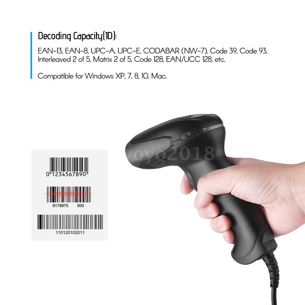 NETUM USB Wired 1D Barcode Scanner Handheld Bar Code Reader for Mobile  Payment Supermarket Retail Store Warehouse, Black