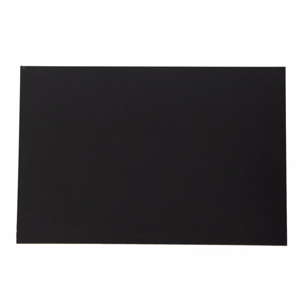 Black 1 pcs ABS Styrene Plastic Flat Sheet Plate 0.5mm x 100mm x 100mm