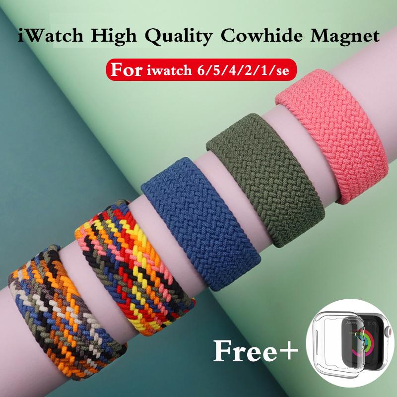 สายนาฬิกาข้อมือไนล่อนสําหรับ Apple Watch 6 Band 44 มม . 40 มม . Iwatch Band 42 มม . 38 มม . Series 5 4 3 2 1 6 Se