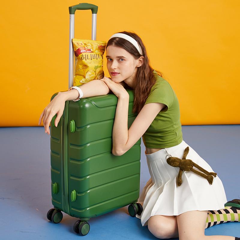 """กระเป๋าเดินทางล้อลาก CODกระเป๋าเดินทางผู้หญิง24""""สุทธิแดงinsของใหม่20ขนาดเล็กน้ำหนักเบากระเป๋าเดินทางรหัสผ่านรถเข็นกระเป๋"""