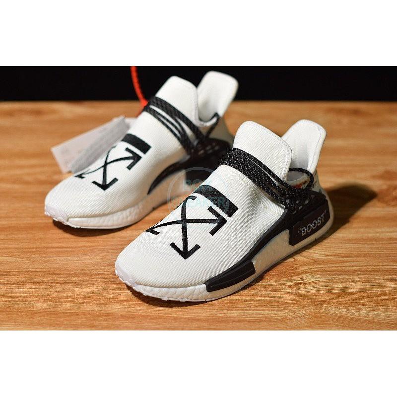 OFF-WHITE รองเท้าผ้าใบกีฬา Off White X Pharrell X Adidas Nmd Human Race Bb0616