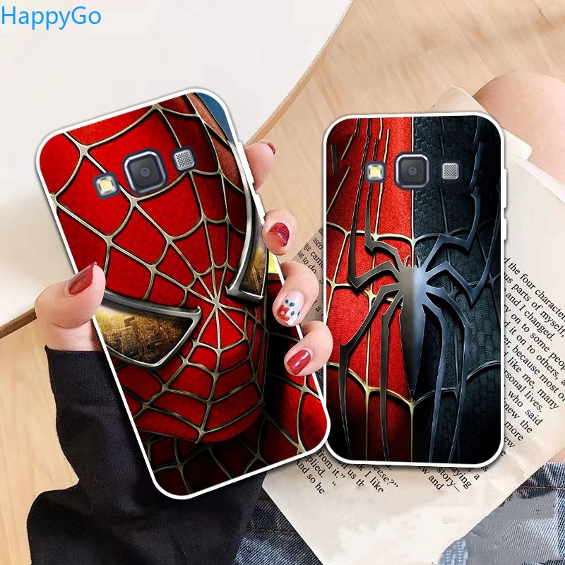 Happigo-Samsung A3 A5 A6 A7 A8 A9 Star Pro Plus E5 E7 2016 2017 2018 Spiderman pattern-4 Soft Silicon Case Cover