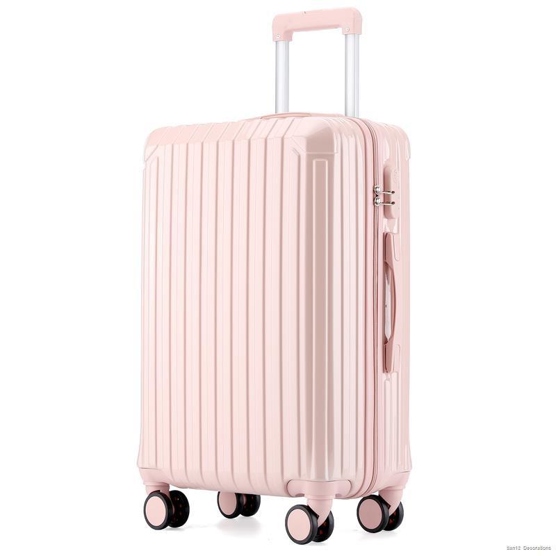 กระเป๋าเดินทางใบเล็ก☌❣กระเป๋าเดินทางรถเข็นหญิง กระเป๋าเดินทาง รหัสผ่าน กระเป๋าเดินทางหนัง หมื่นล้อ 24 นิ้ว 26 เบาและเล็