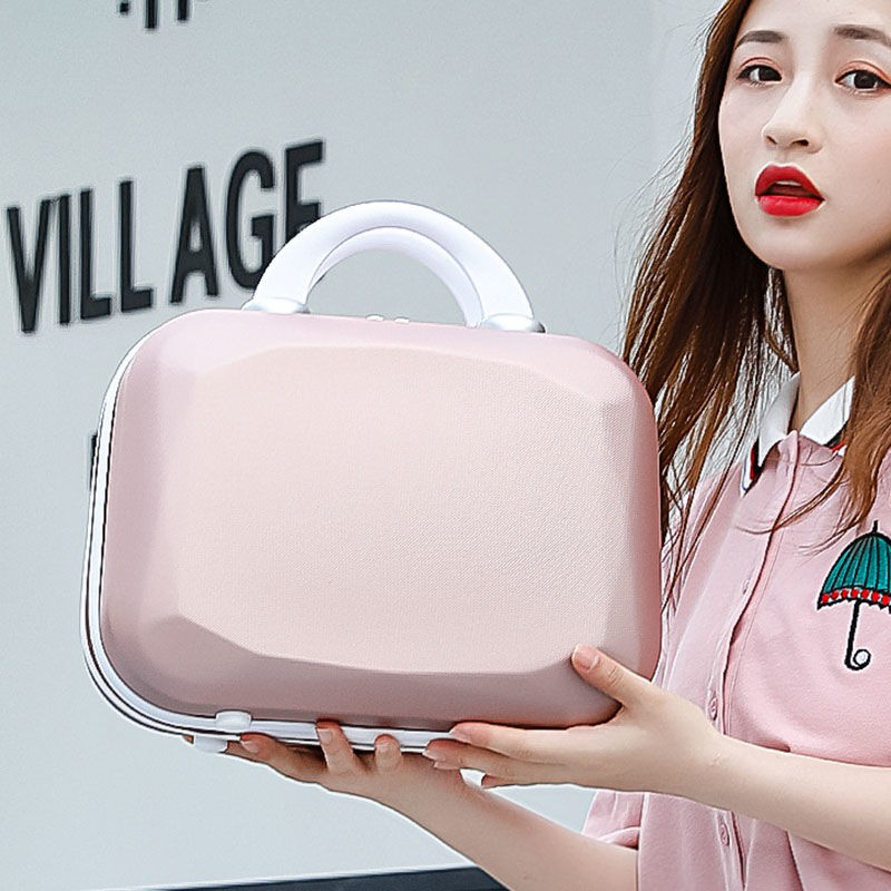 กระเป๋าเดินทางขนาดเล็กน่ารัก 14 นิ้วแฟชั่นหญิงแบบพกพากล่องแต่งหน้า 16 นิ้วความจุขนาดใหญ่กระเป๋าเดินทางมินิกล่องแต่งงาน