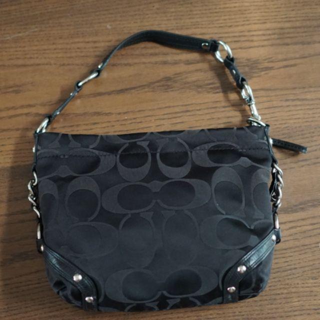 กระเป๋า Coach ผ้าแคนวาสพิมพ์ลายสีดำ