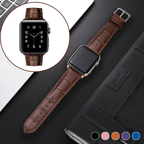 Apple Watch Band Genuine Leather iWatch Strap Series 5 4 3 2 1 38 40 42 44mm