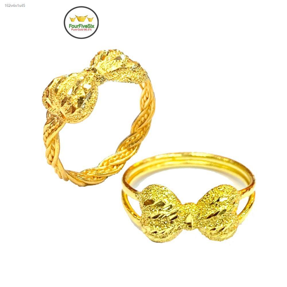 ราคาต่ำสุด❍✲FFS แหวนทองครึ่งสลึง เปียโบว์มินนี่ หนัก 1.9 กรัม ทองคำแท้96.5%