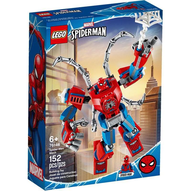 Lego เลโก้บล็อกของเล่นชุดซูเปอร์ฮีโร่ Marvel Marvel Avengers Spider-Man Mecha 76146