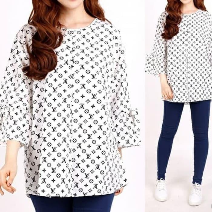 เสื้อ Devy / Tunic / Ity Crepe เสื้อจัมโบ้ลิวา - สีขาว 61xhr