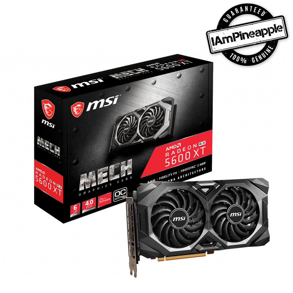 MSI Graphic Card Radeon RX 5600 XT MECH OC