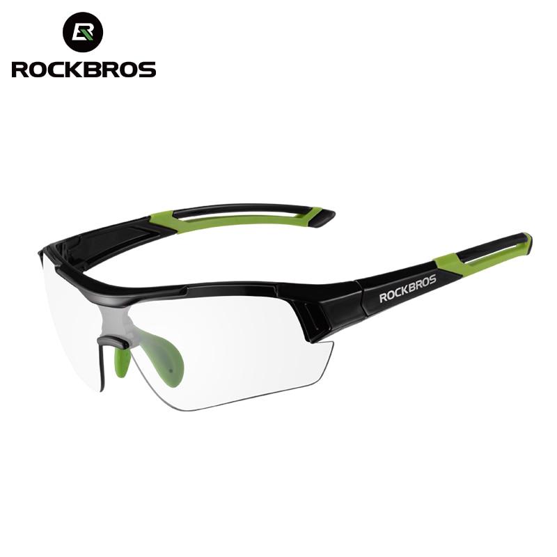 ROCKBROS MTB Bike Photochromic Glasses Cycling Skiing Driving Outdoor Sports Sunglasses Goggles Bike Eyewear Myopia Frame NEW