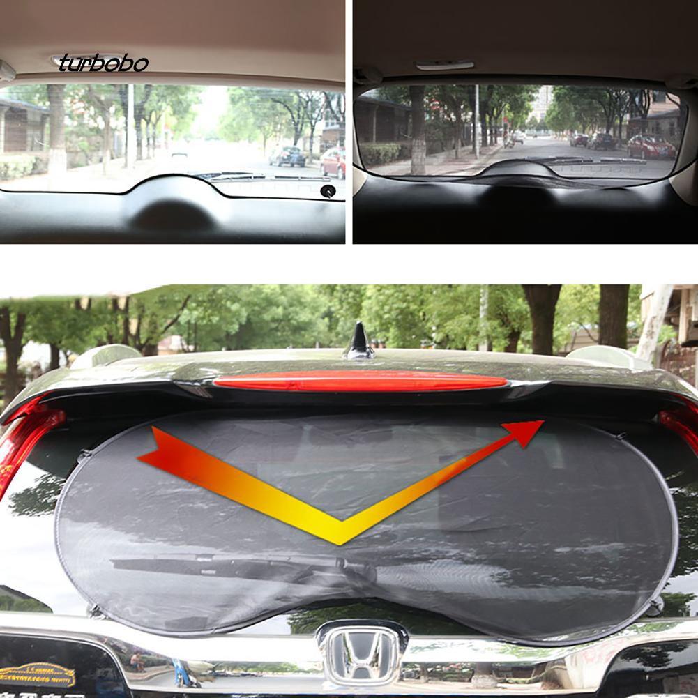 Auto Car Rear Window Sunshade Sun Shade Cover Visor Mesh Shield UV Block Protect