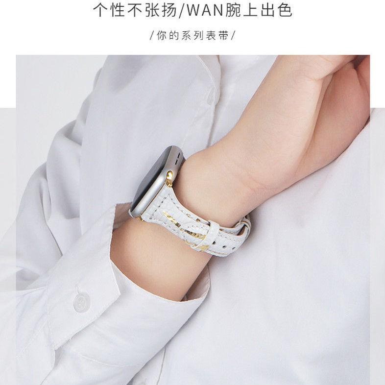 สายนาฬิกาข้อมือสายหนังสําหรับ Applewatch 6 Generation Iwatch 5 Applewatch 1 / 2 / 3/4 / 4