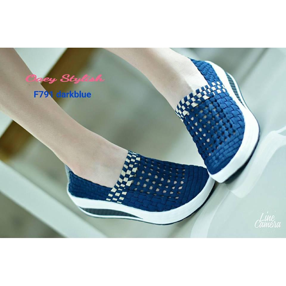 pairryshoes รองเท้าคัชชู สุขภาพ สีน้ำเงิน
