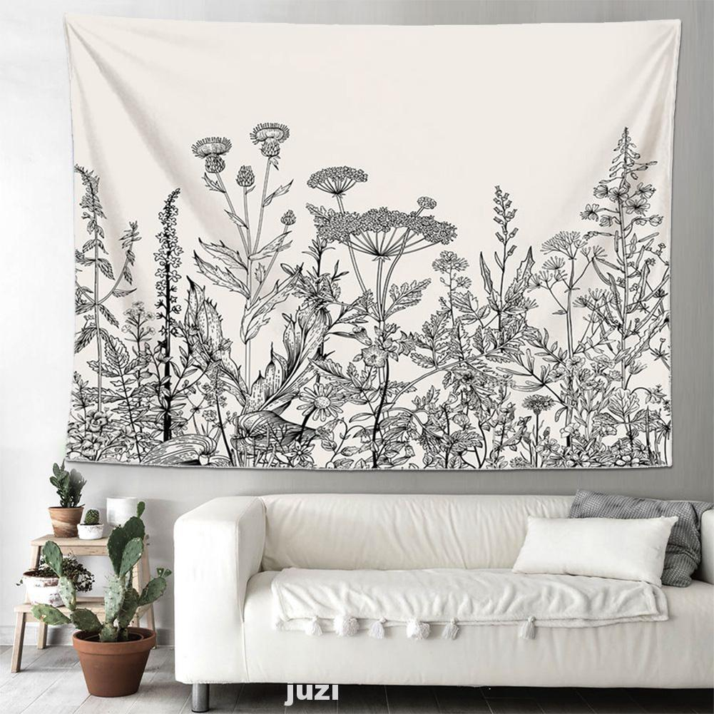 College Folding Bedroom Living Room Floral Plants Wall Hanging Home Decor Scenery Tapestry Shopee Thailand