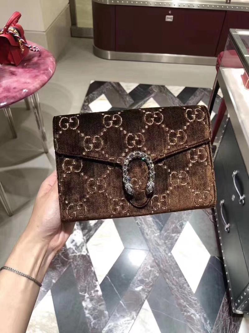 การจัดซื้อกระเป๋าถือGucci/Gucci Dionysusกำมะหยี่หัวเสือหัวเข็มขัดแบคคัสกระเป๋าสายโซ่กระเป๋าสะพายกระเป๋าส่งเอกสาร Lqoy